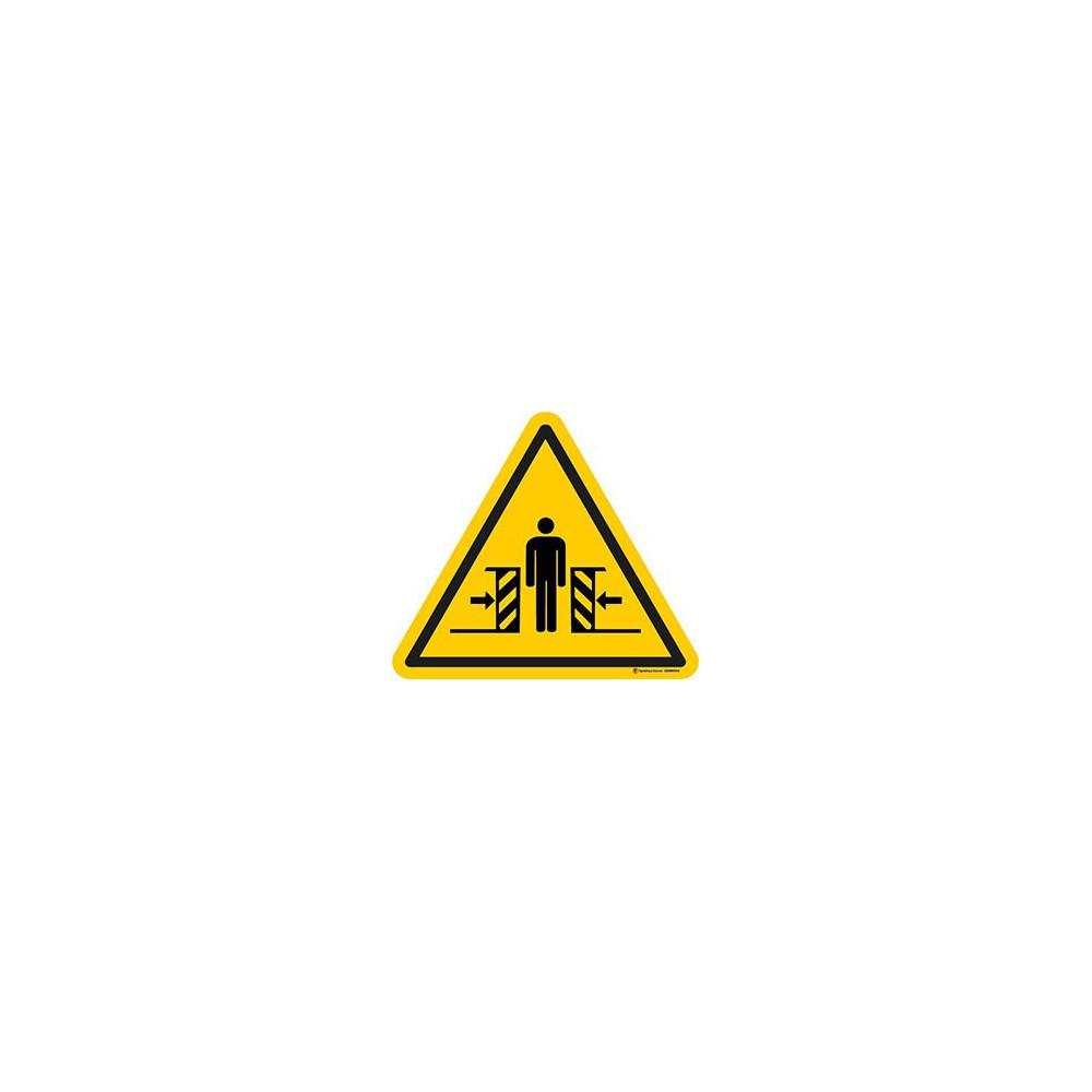 Autocollants Danger écrasement ISO 7010 W019