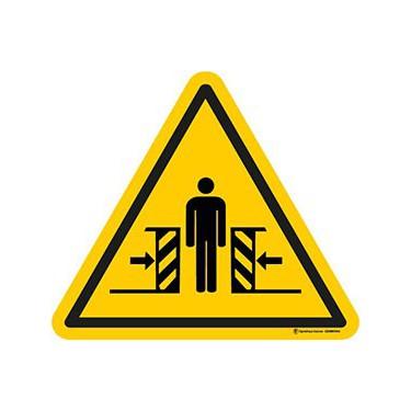 Panneau Danger écrasement ISO 7010 W019