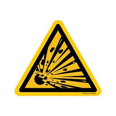 Panneau Danger matières explosives ISO 7010 W002