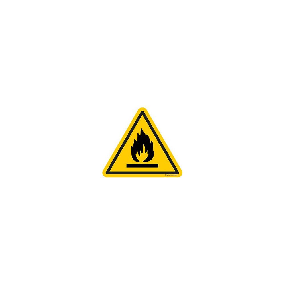 Autocollants Danger matières inflammables ISO 7010 W021