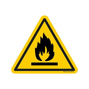 Panneau Danger matières inflammables ISO 7010 W021