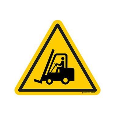 Autocollants Danger chariots élévateurs à fourche ISO 7010 W014