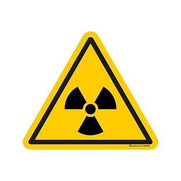 Autocollants Danger Matières radioactives - Lot de 5
