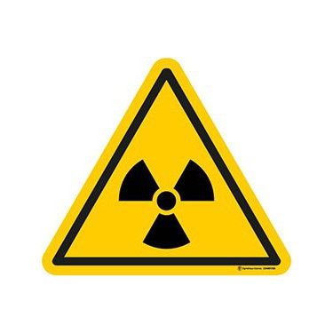 Autocollants Danger matières radioactives ISO 7010 W003