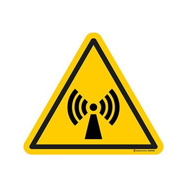 Autocollants Danger radiations non ionisantes ISO 7010 W005