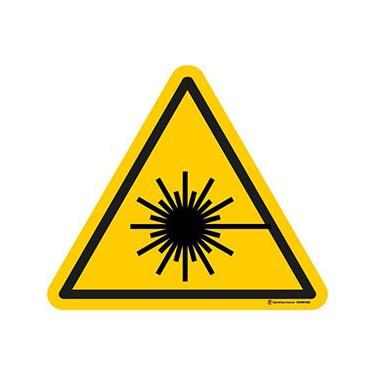 Autocollants Danger Rayonnement laser - Lot de 5