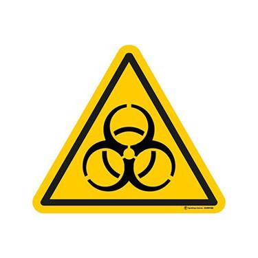 Autocollants Danger Risque biologique - Lot de 5