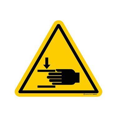 Autocollants Danger Ecrasement des mains - Lot de 5