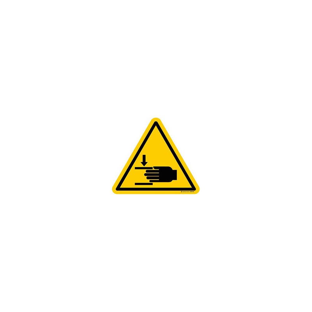 Panneau Danger Ecrasement des mains