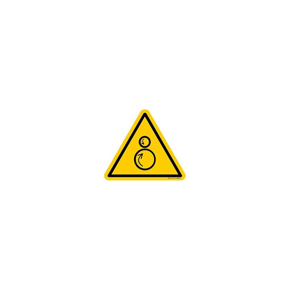 Panneau Danger rouleaux contrarotatifs ISO 7010 W025