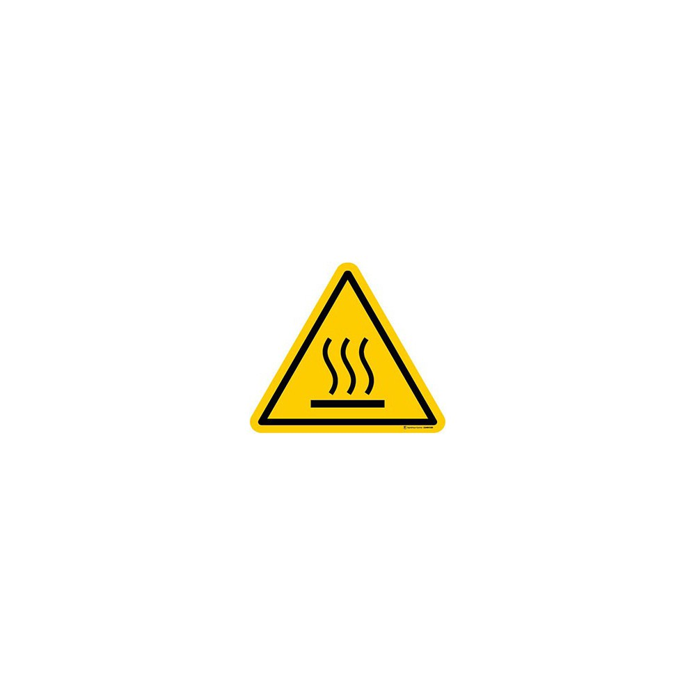 Panneau Danger Surface chaude ISO 7010 W017