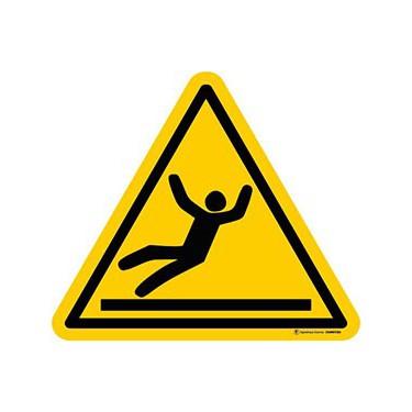 Autocollants Danger Surface Glissante - Lot de 5