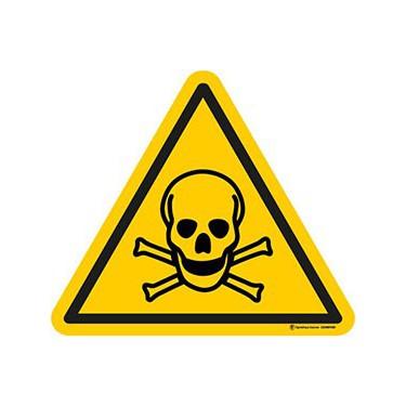 Autocollants Danger Matières Toxiques  - Lot de 5