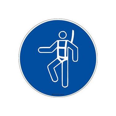 Panneau Harnais de sécurité obligatoire ISO 7010 M018
