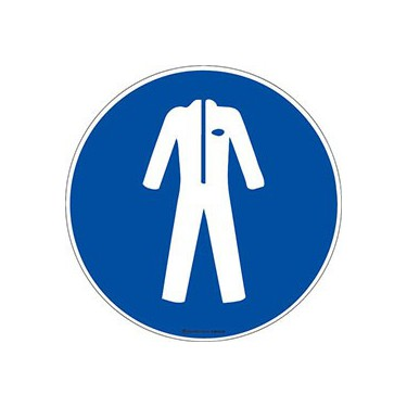 Panneau Vêtement de protection obligatoire ISO 7010 M010