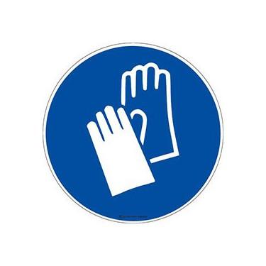 Panneau Gants de protection obligatoires ISO 7010 M009