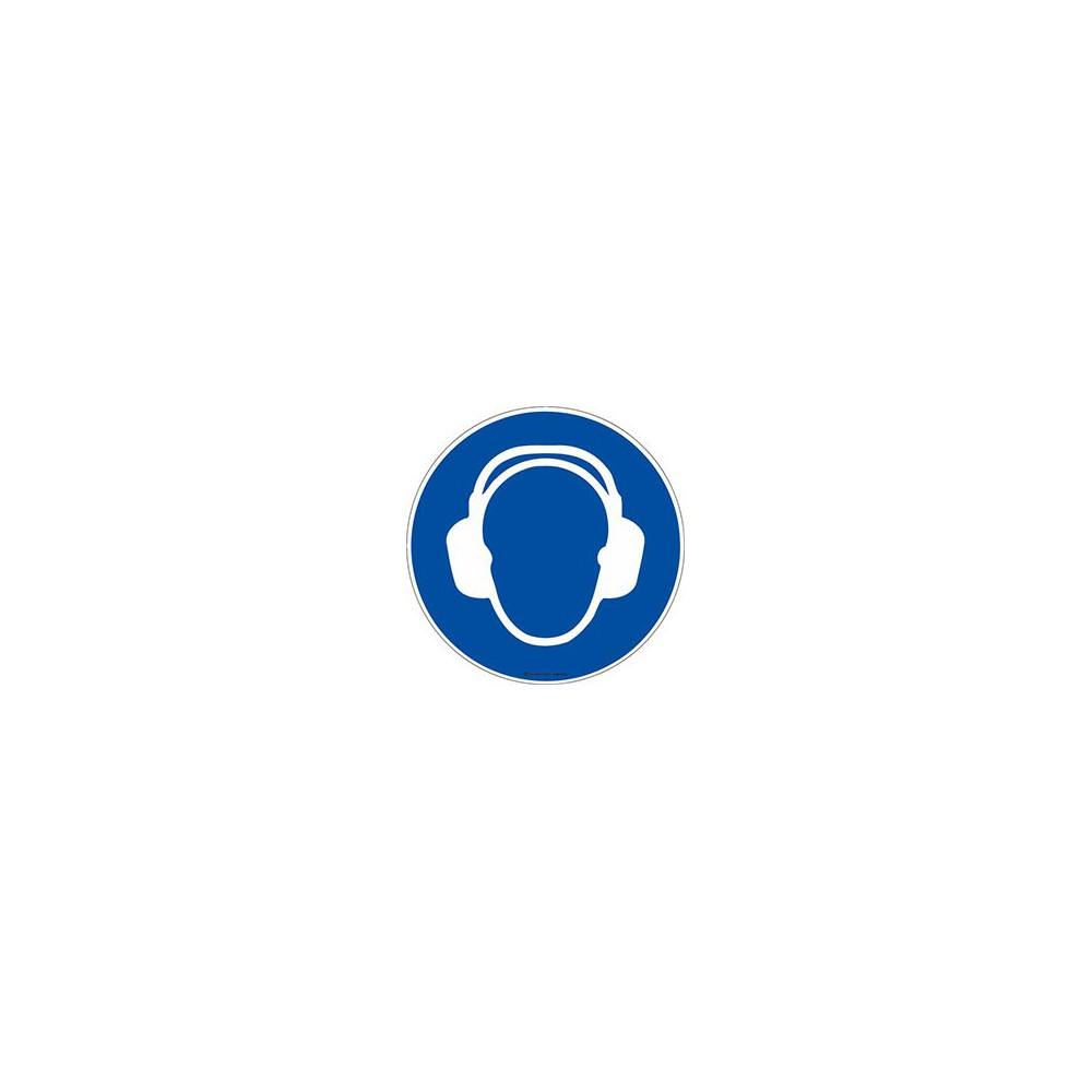 Panneau Casque anti-bruit obligatoire ISO 7010 M003