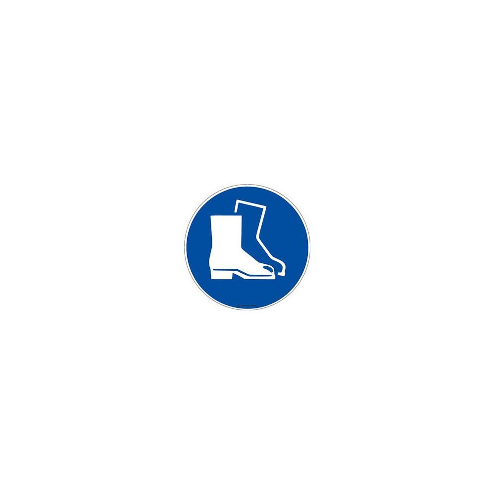 Panneau Obligation port de chaussures de sécurité ISO 7010 M008