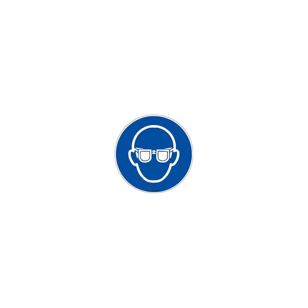 Panneau Lunettes de protection obligatoires ISO 7010 M004
