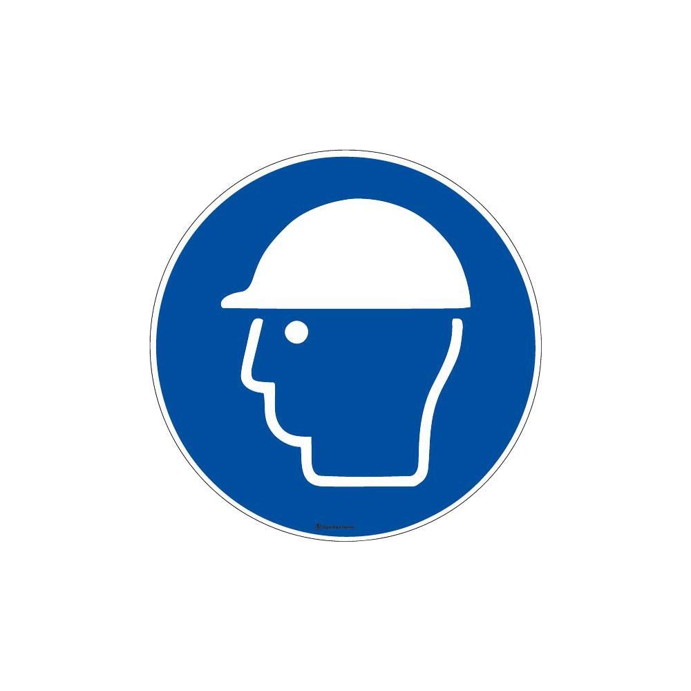 Panneau Casque de protection obligatoire ISO 7010 M014