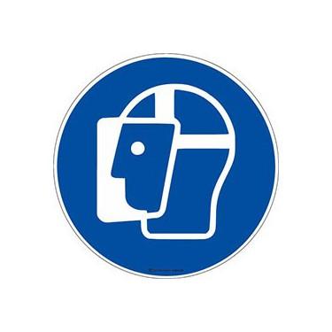 Autocollants Visière de protection obligatoire ISO 7010 M013