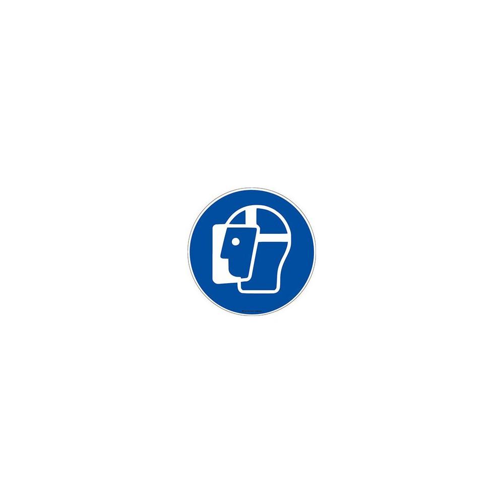Panneau Visière de protection obligatoire ISO 7010 M013