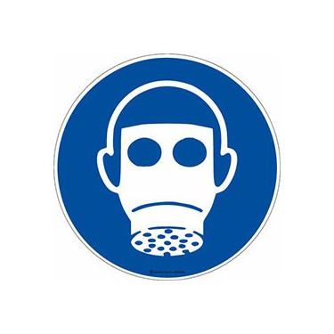 Autocollants Protection des voies respiratoires obligatoire ISO 7010 M017