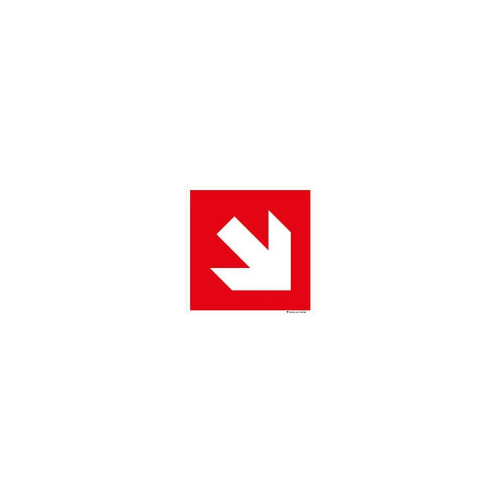 Panneau Direction à suivre rouge - Bas Droite