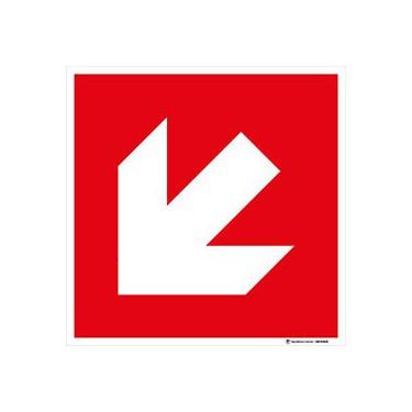 Panneau Direction à suivre rouge - bas gauche