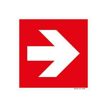 Panneau Direction à suivre rouge - droite