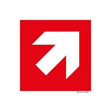 Panneau Direction à suivre - haut droite