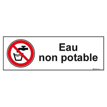 Panneau Eau non potable ISO 7010 P005