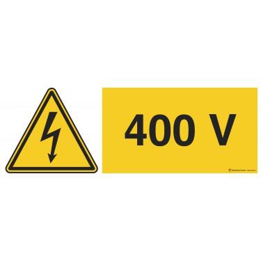 Panneau Danger électricité 400v