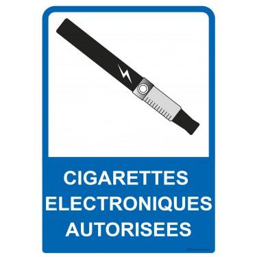 Panneau Cigarettes électroniques autorisées