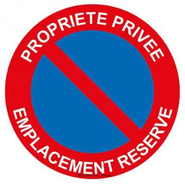 Panneau Propriété privée emplacement réservé