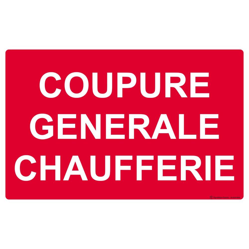 Panneau Coupure générale chaufferie
