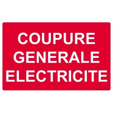 Panneau Coupure générale électricité