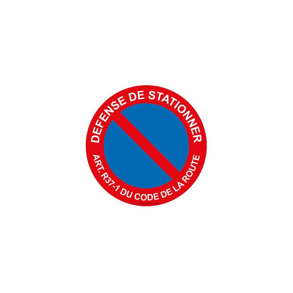 Panneau Défense de stationner art. r37-1 du code de la route