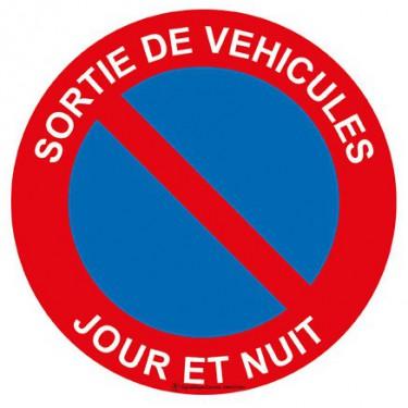 Panneau Sortie de véhicules jour et nuit