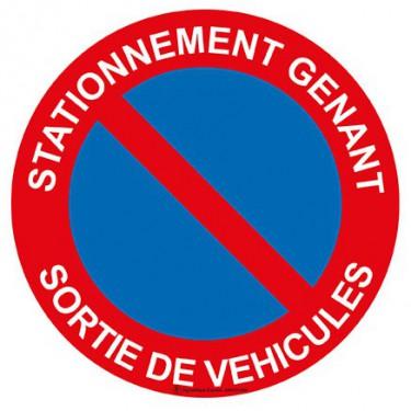 Panneau Stationnement génant sortie de véhicules