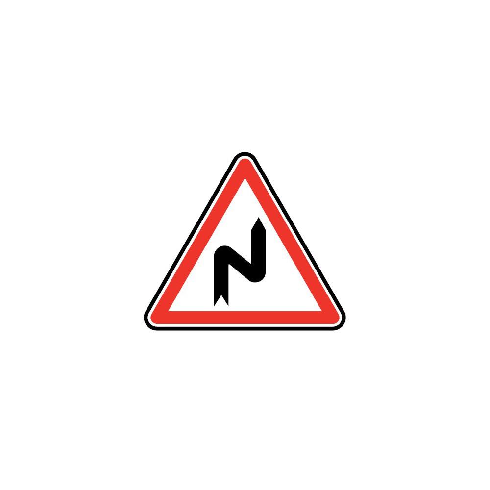 Panneau routier - type A Danger - A1c  succession de virage, premier droite - Signalétique Express