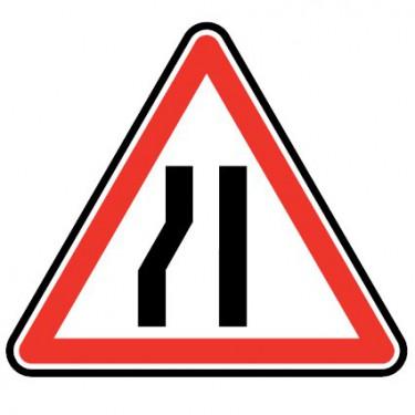 Panneau Chaussée rétrécie par la gauche - A3b