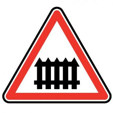 Panneau Passage à niveau avec barrière - A7