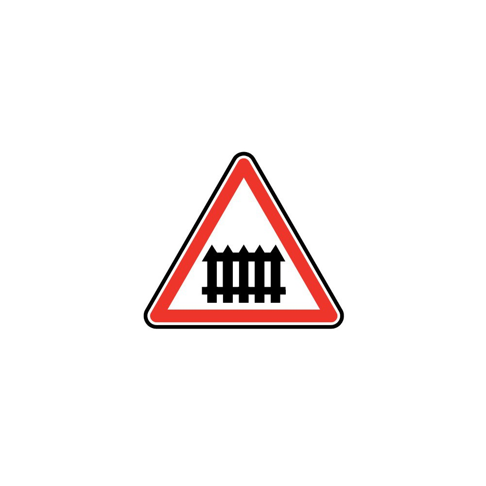 Panneau routier - type A Danger - A7  passage à niveau à fonctionnement manuel - Signalétique Express