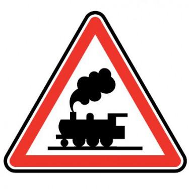 Panneau routier - type A Danger - A8  passage à niveau sans barrières ni demi-barrières - Signalétique Express