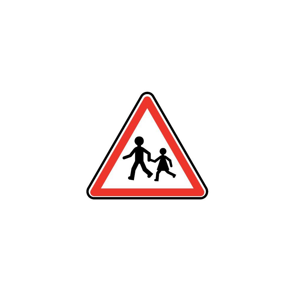 Panneau Endroit fréquenté par les enfants - A13a