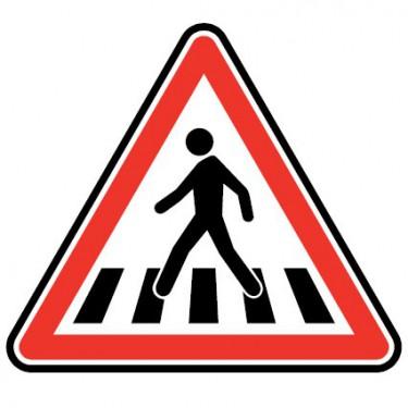 Panneau routier - type A Danger - A13b  passage pour piéton - Signalétique Express