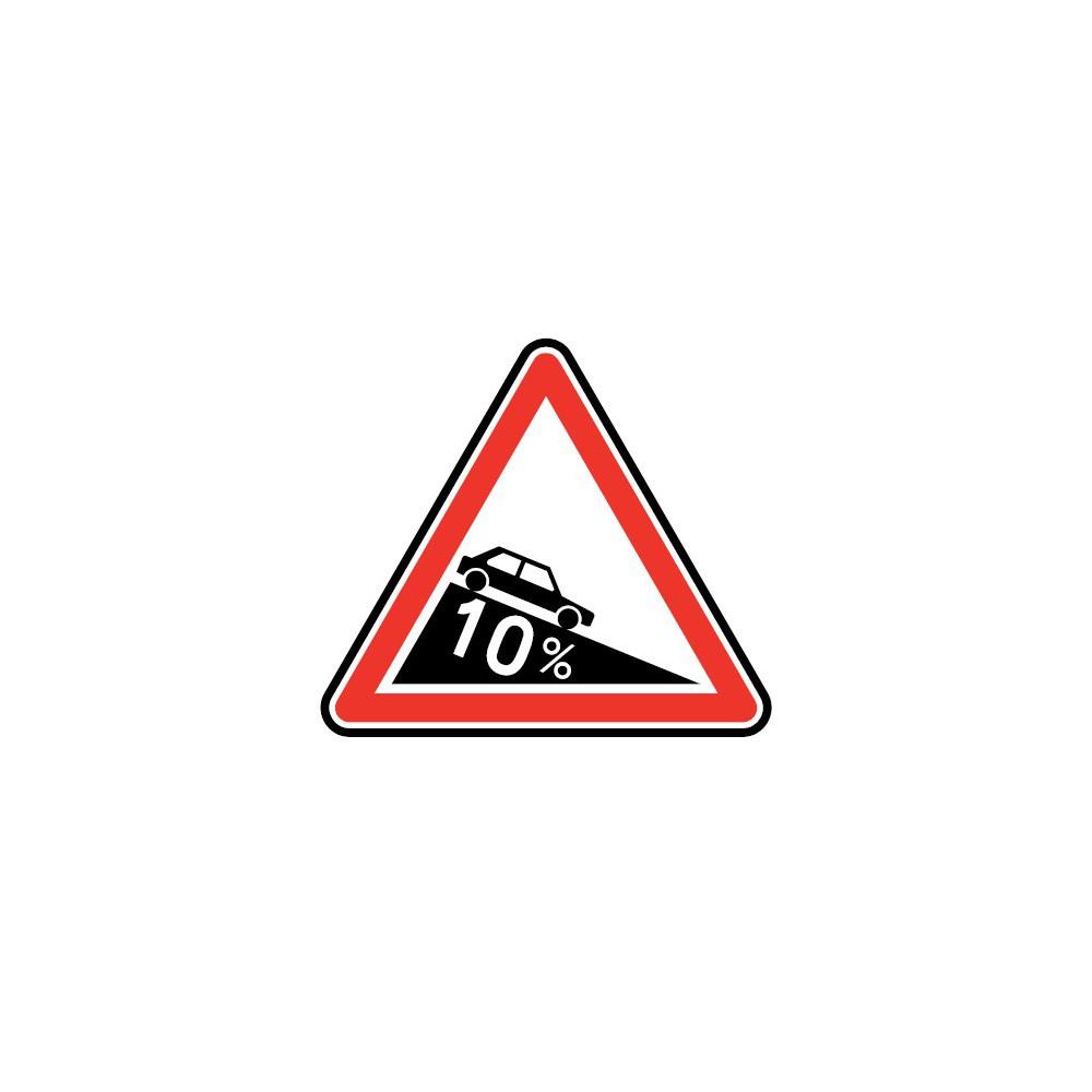 Panneau A16 descente dangereuse
