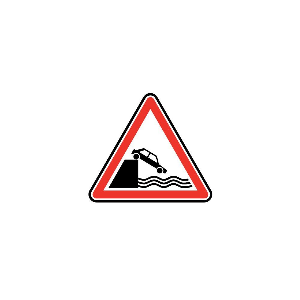 Panneau Débouché sur quai ou berge - A20