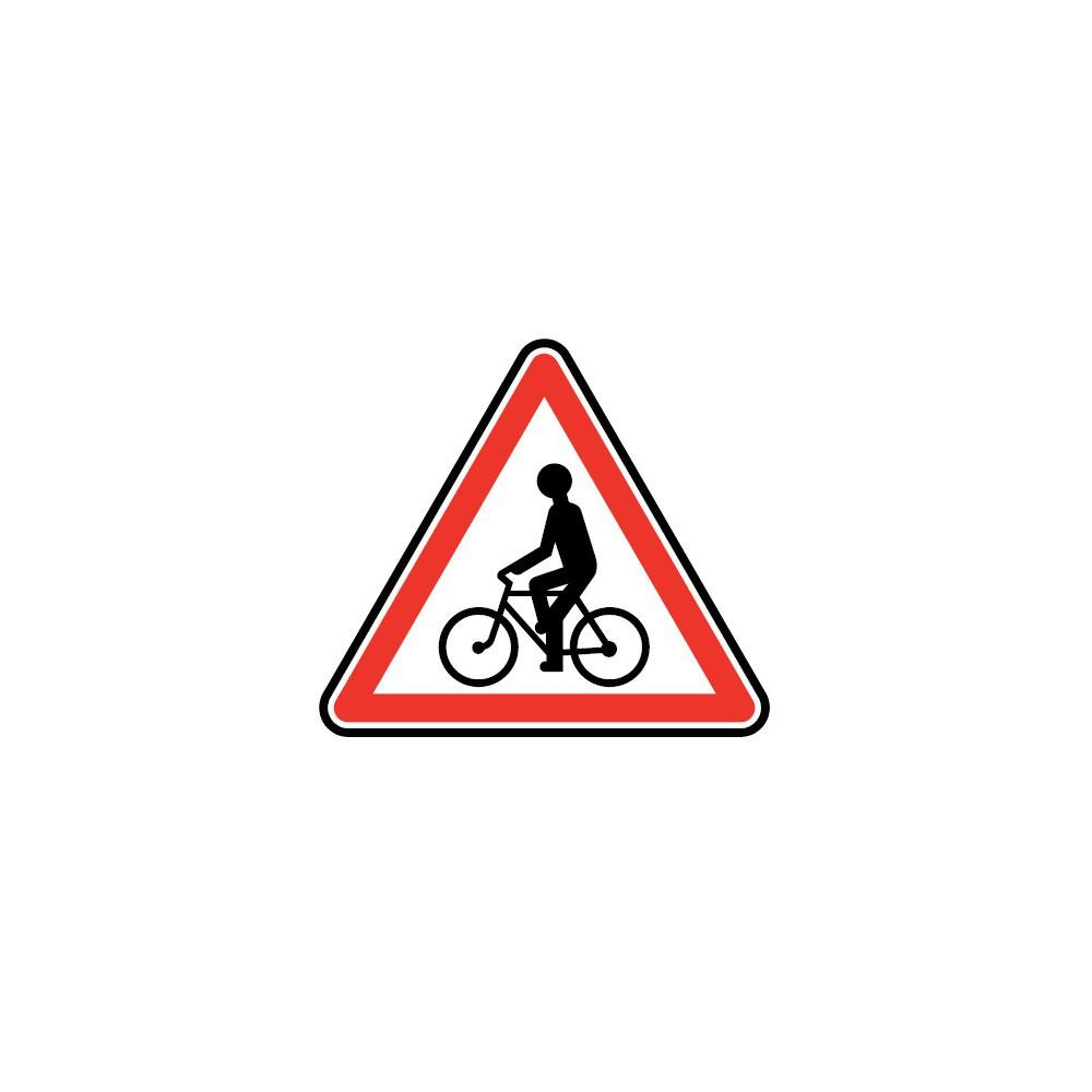 Panneau Débouché de cyclistes ou cyclomotoristes - A21